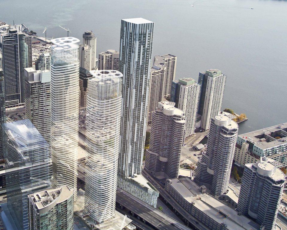 Ten York Street Condos Aerial View Toronto, Canada