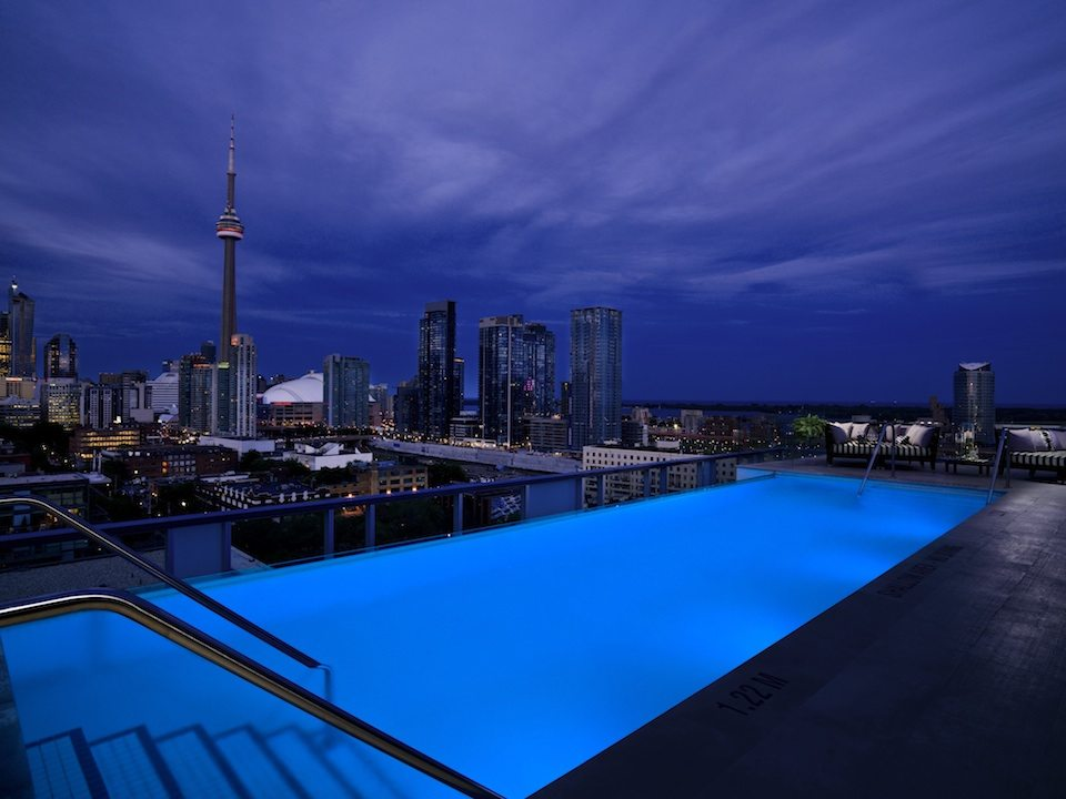 Thompson Hotel & Residences Rooftop Pool Toronto, Canada