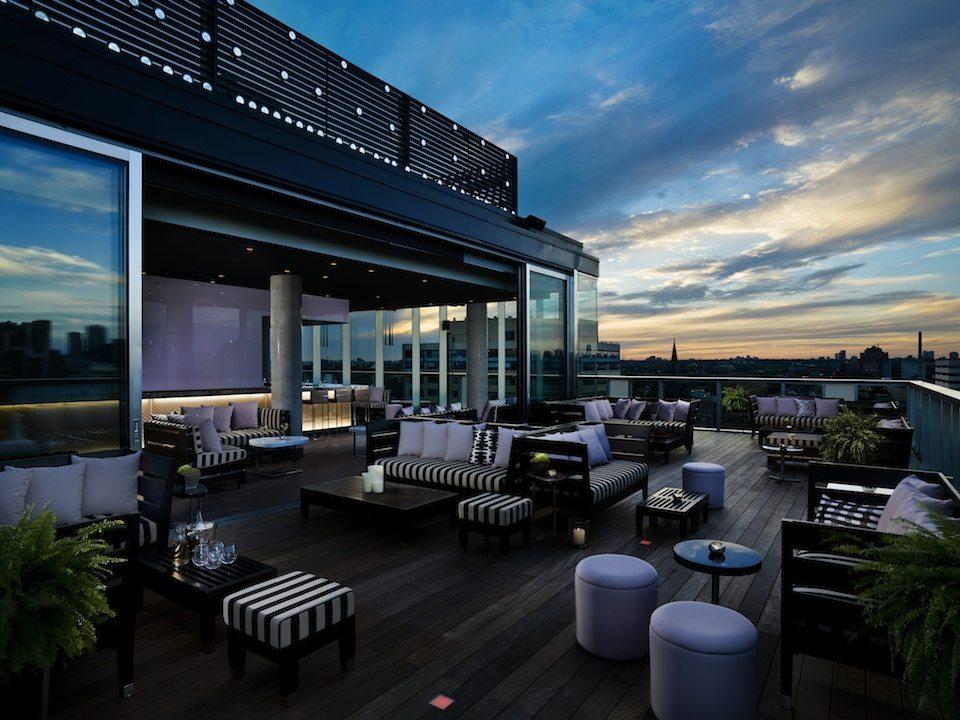 Thompson Hotel & Residences Terrace Lounge Toronto, Canada