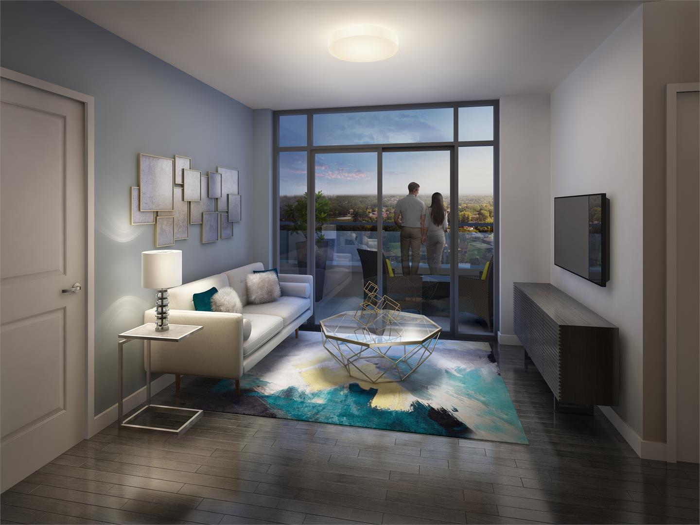 Barra Condos Living Area Toronto, Canada