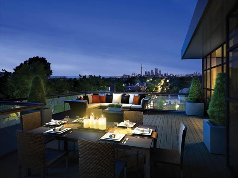 Bellefair Kew Beach Residences Terrace Lounge Toronto, Canada