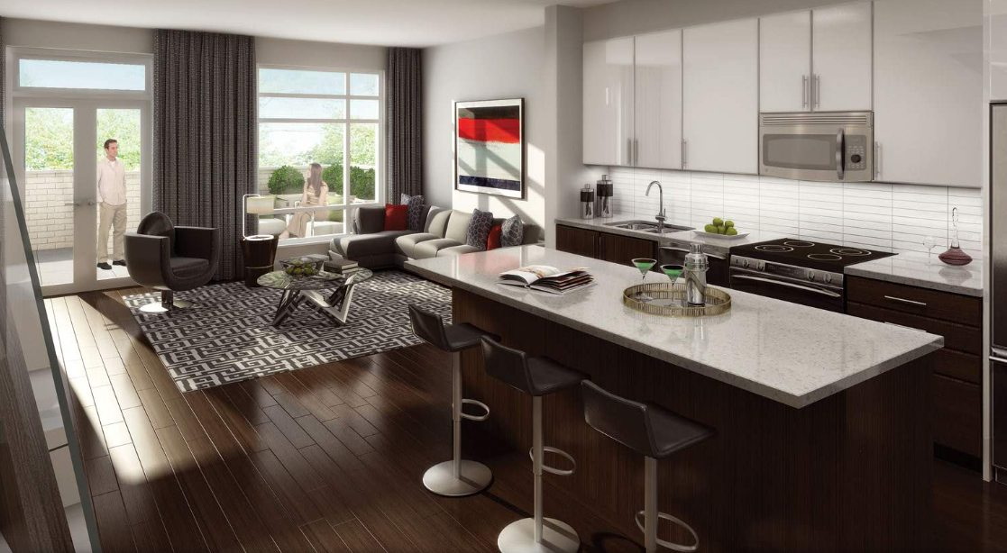 Berwick Condos Living Area Toronto, Canada