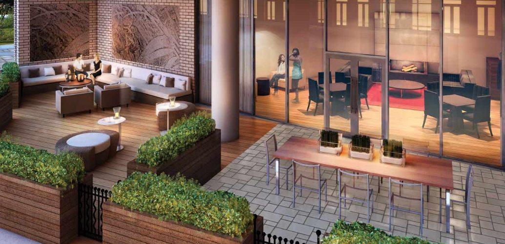 Berwick Condos Terrace Lounge Toronto, Canada