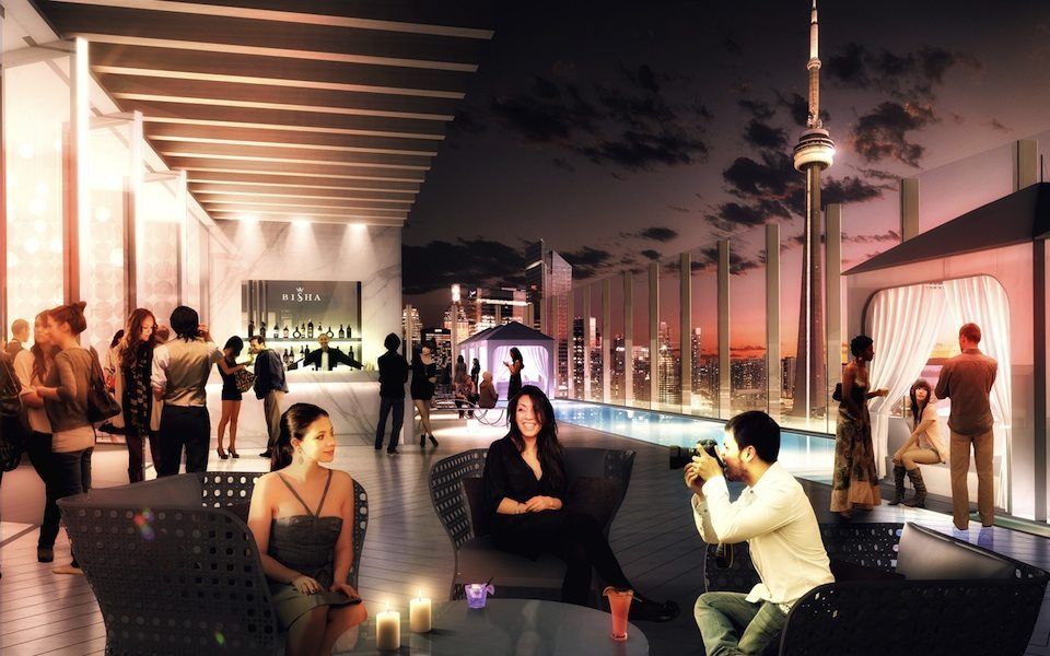 Bisha Hotel and Residences Terrace Party Toronto, Canada