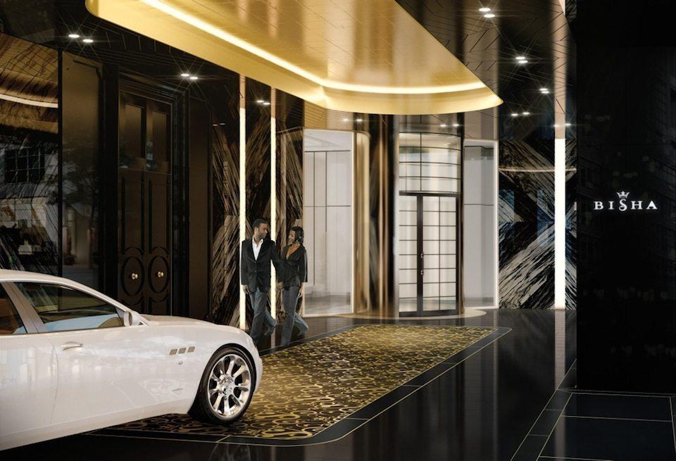 Bisha Hotel and Residences Entrance Toronto, Canada