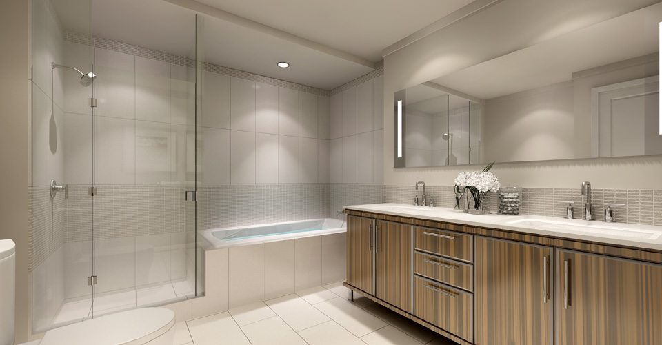 Bluwater Condos Bathroom Toronto, Canada
