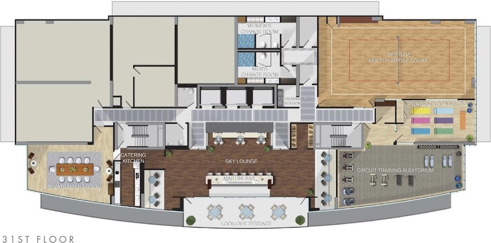 California Condominiums Floor Plan Toronto, Canada