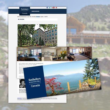 Postcards - Sothebys International Realty Canada Extraordinary Real Estate Marketing