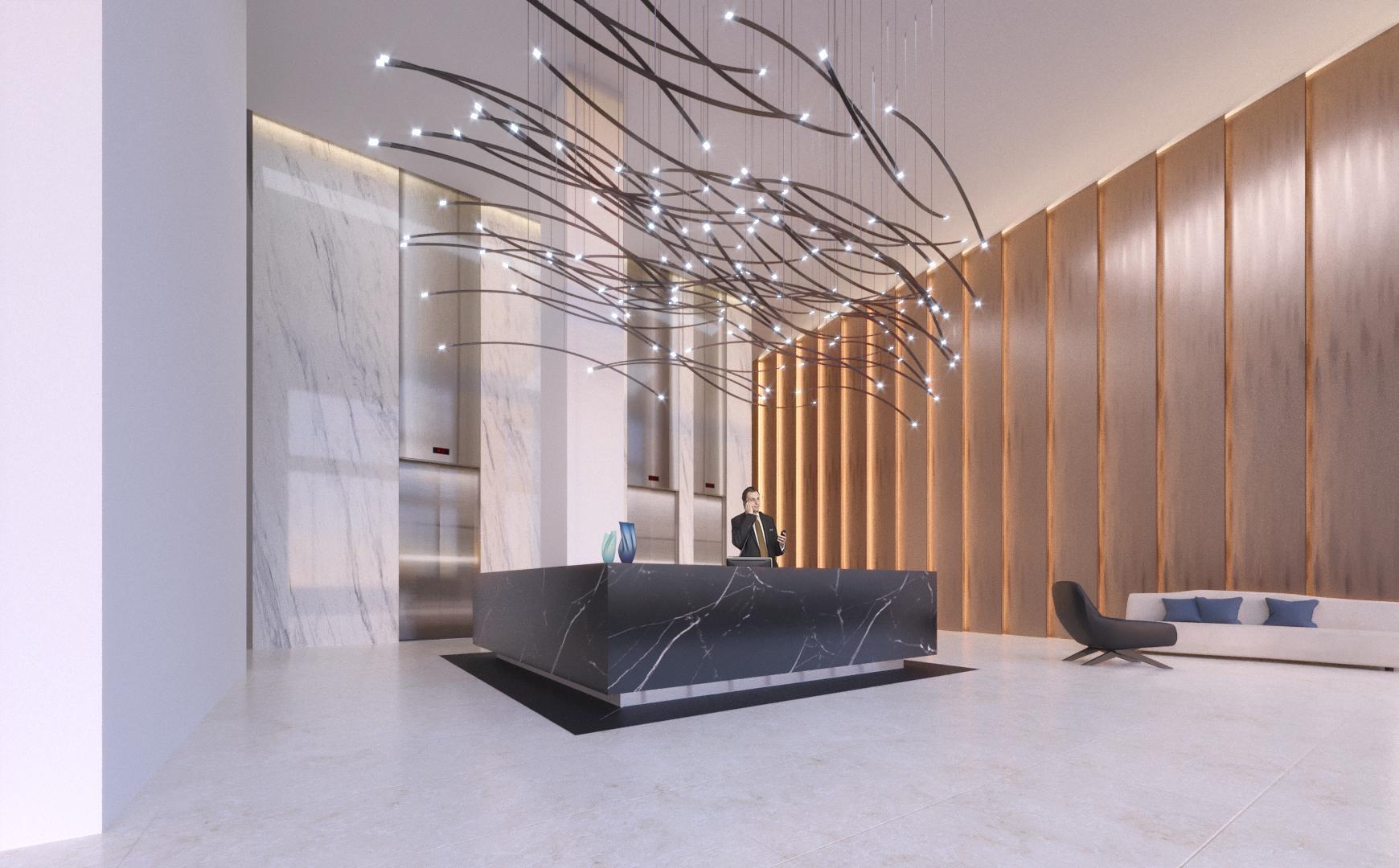 Rendering of Mississauga Square Condos interior lobby
