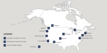 RLB CRANE Index 2018 - Map of North America