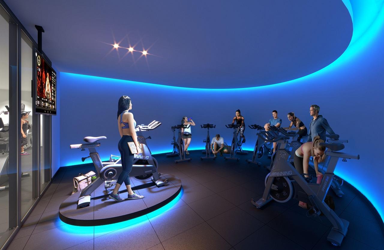 Fitness rendering of XO Condos in Toronto.