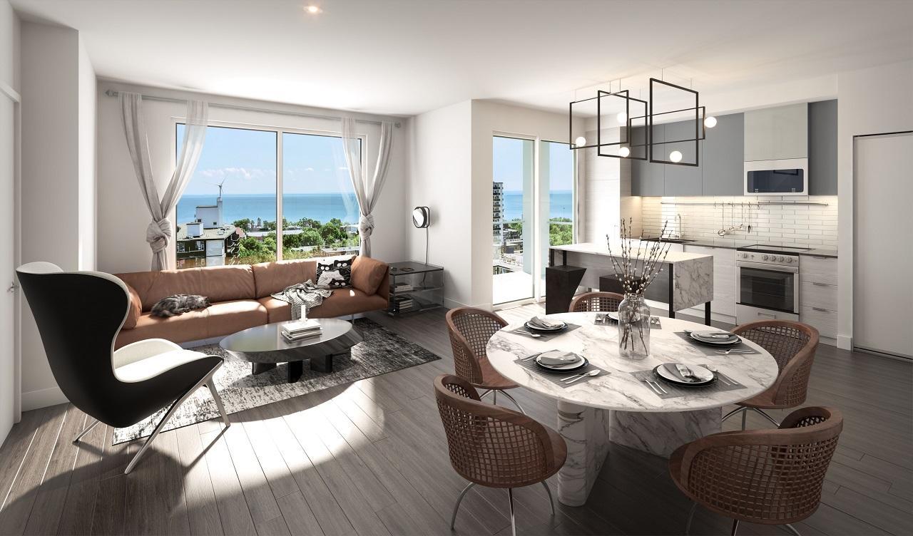 Suite interior rendering of XO Condos in Toronto.