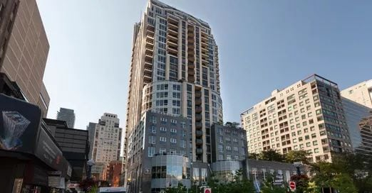 Exterior image of the 10 Bellair Condos in Toronto