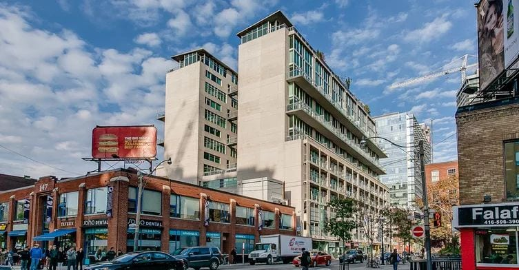 Exterior image of the District Lofts in Toronto