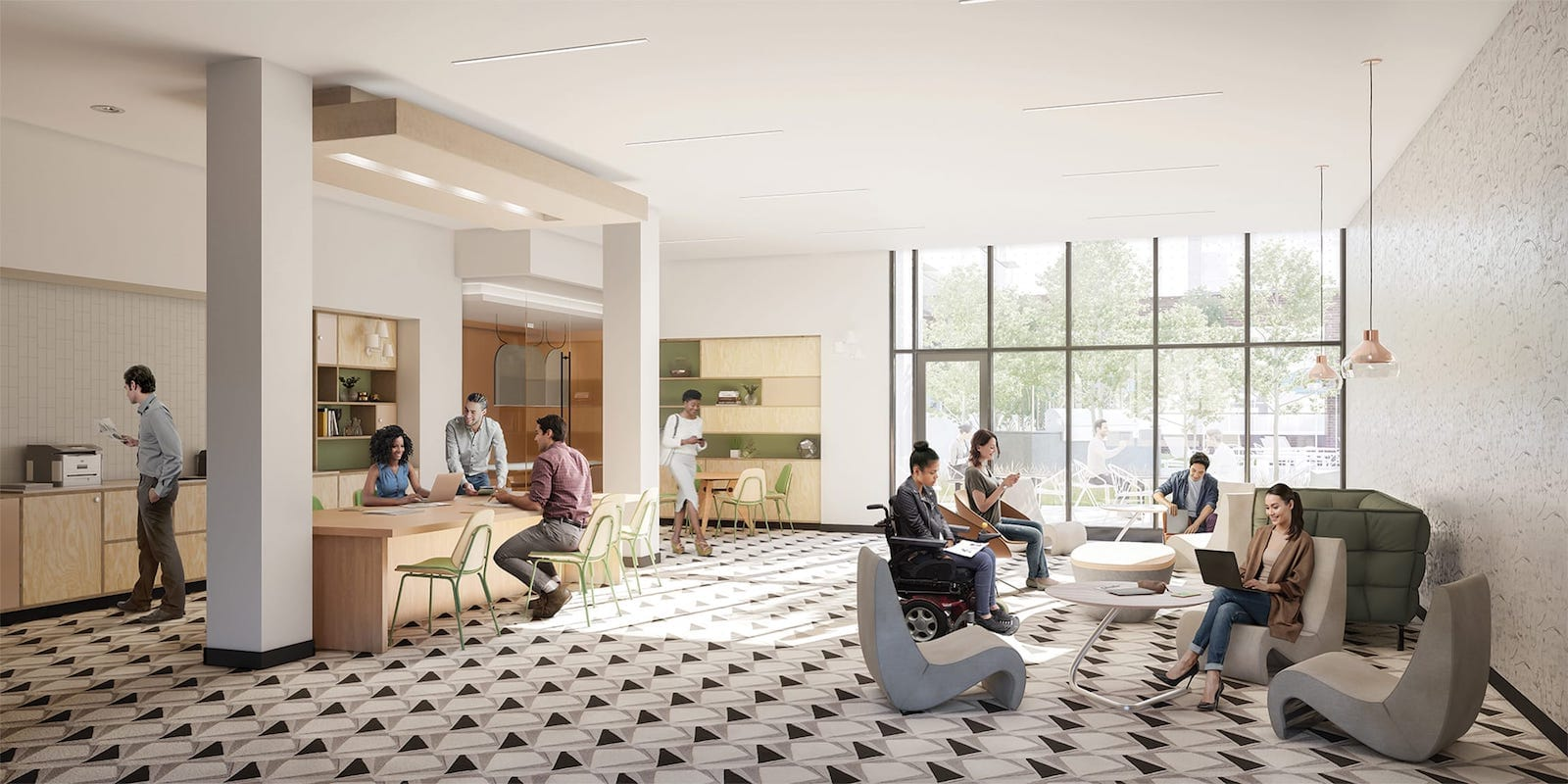 Rendering of Artworks Tower Condos Business Lounge