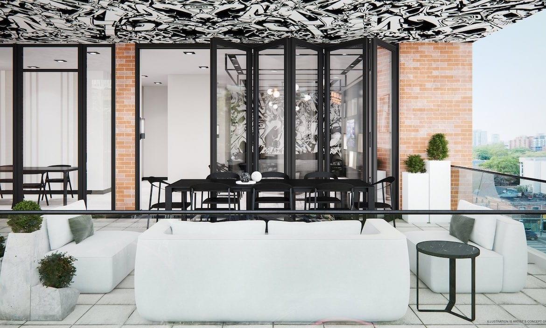 RUSH Condos party room terrace