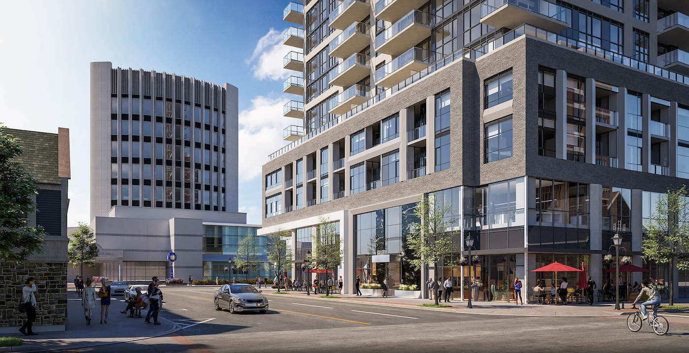 Rendering of Gallery Condos and Lofts Building Exterior