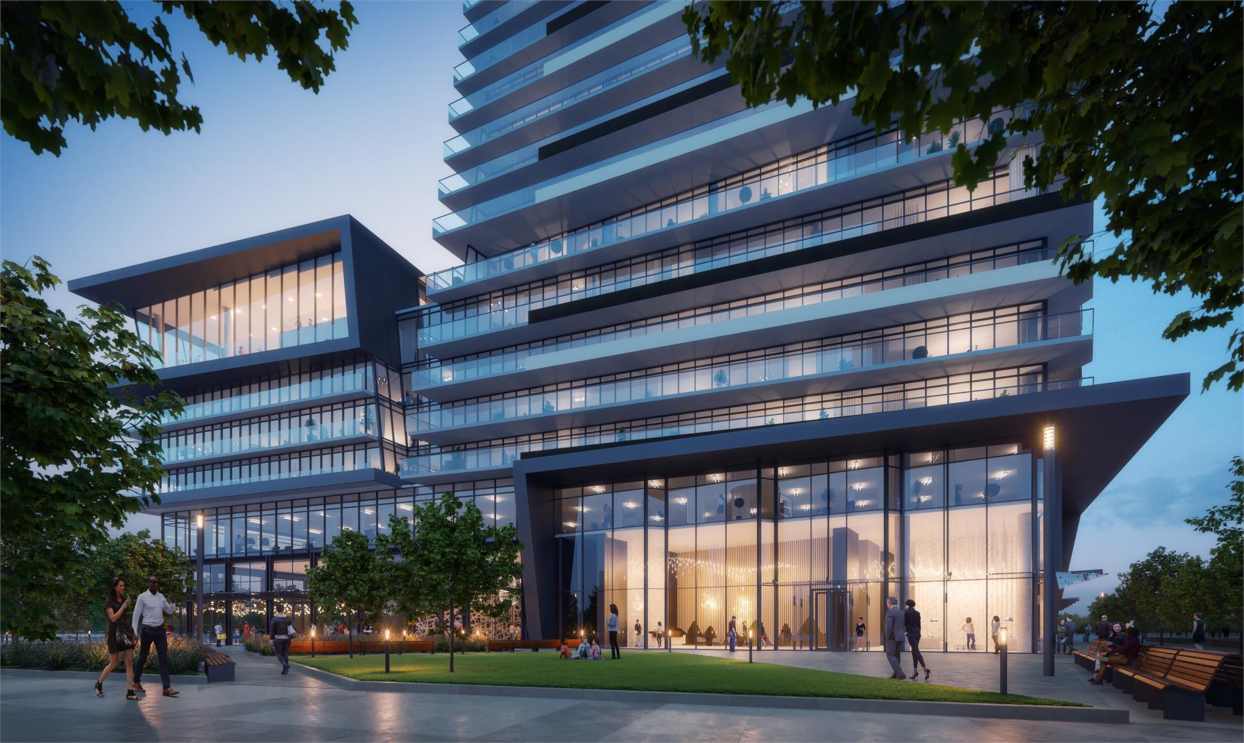 M City Condos 3 courtyard