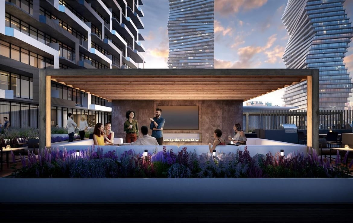 M City Condos 3 outdoor fire-pit