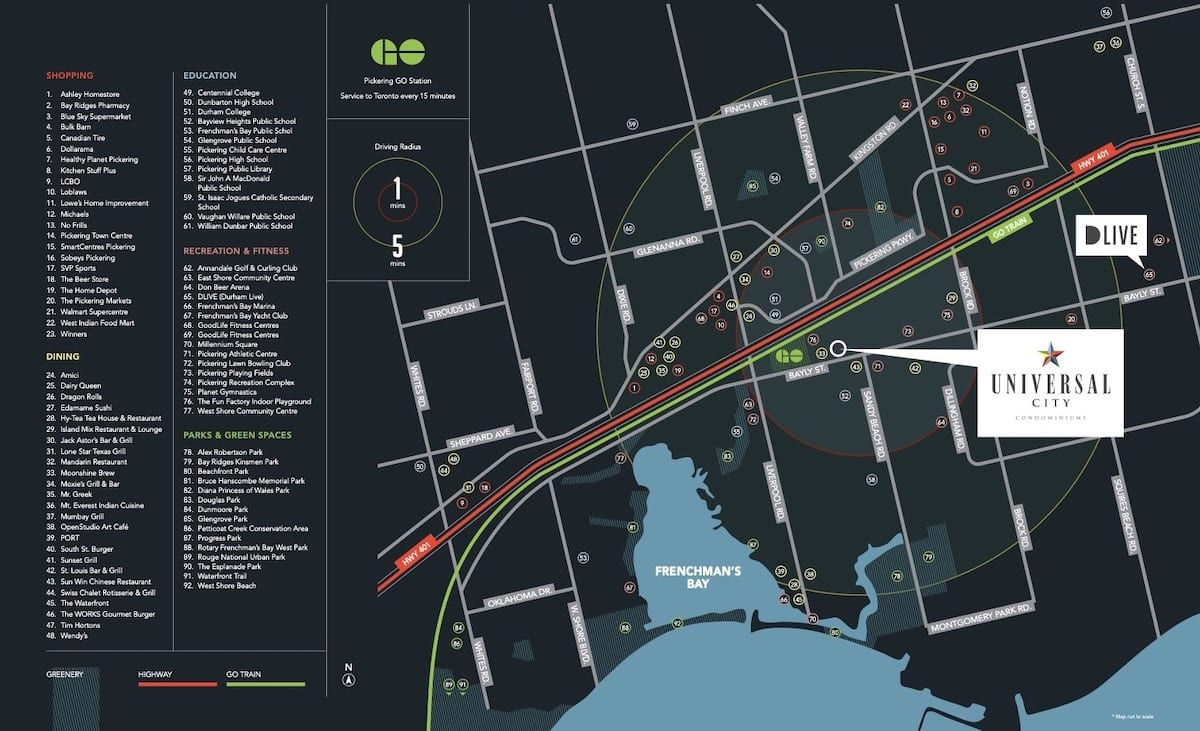 Universal City Condos Mississauga Map