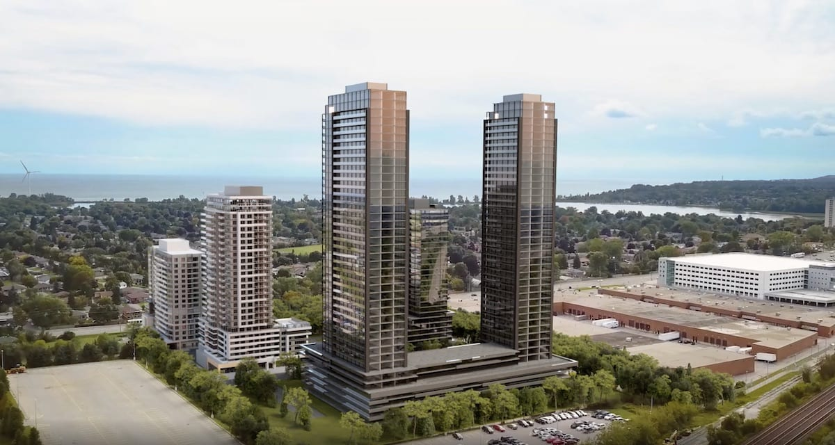 Rendering of Universal City Condos Phase 4 building exterior.