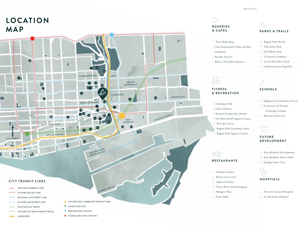 River and Fifth Condos Local Map and Attractions