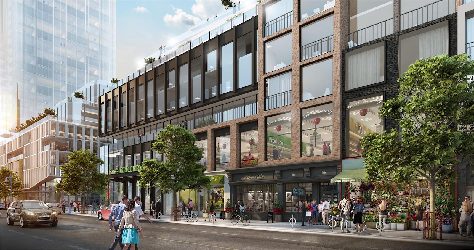 Bloor & Dufferin Condos Plaza Rendering