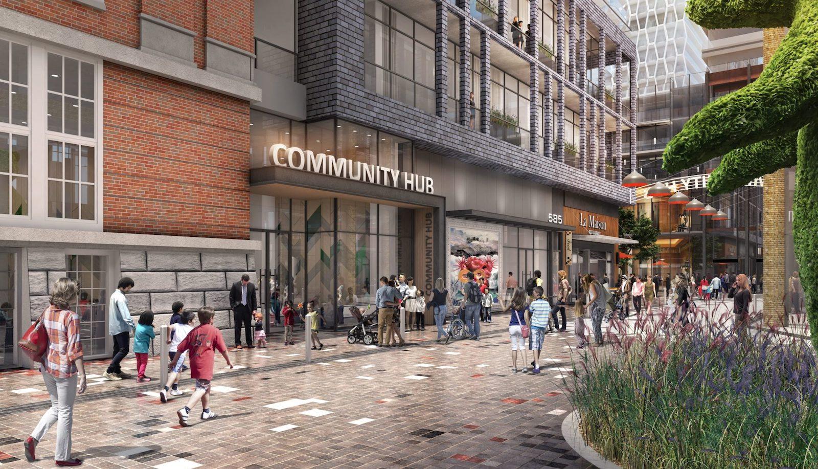 Bloor & Dufferin Condos Community Hub Rendering