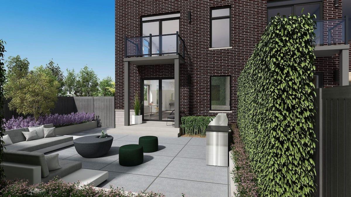 NuTowns Exterior Rendering of Outdoor Terrace