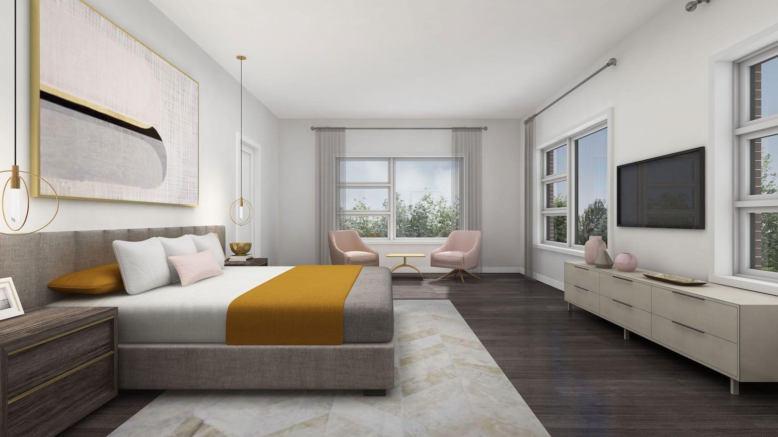 NuTowns Interior Rendering of Bedroom