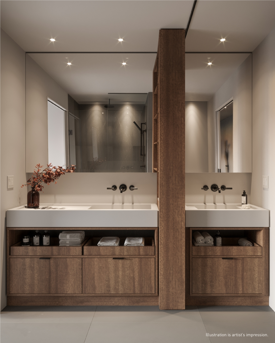 Rendering of 55C Bloor Yorkville Residences Bathroom