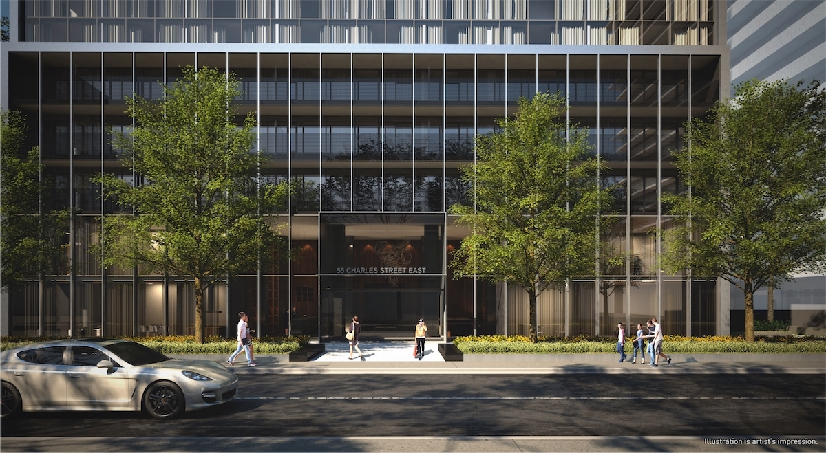 Rendering of 55C Bloor Yorkville Residences Entrance