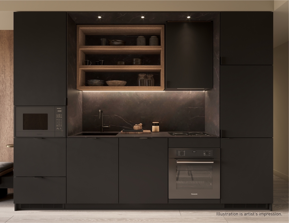 Rendering of 55C Bloor Yorkville Residences Kitchen
