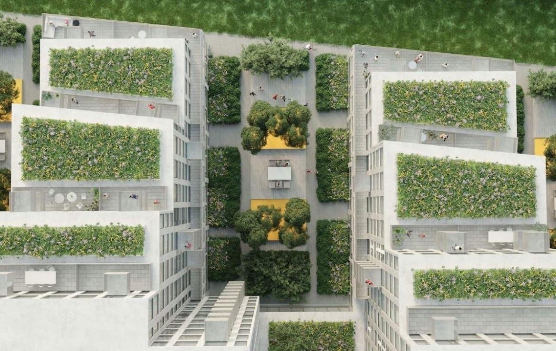 470 Wilson Avenue Condos Aerial View