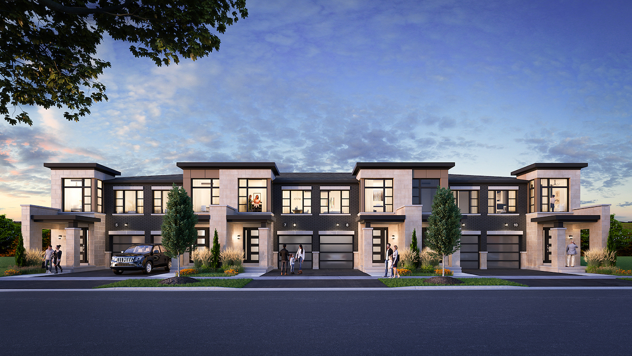 Rendering of Horizons Modern Towns Block 2 Front Full