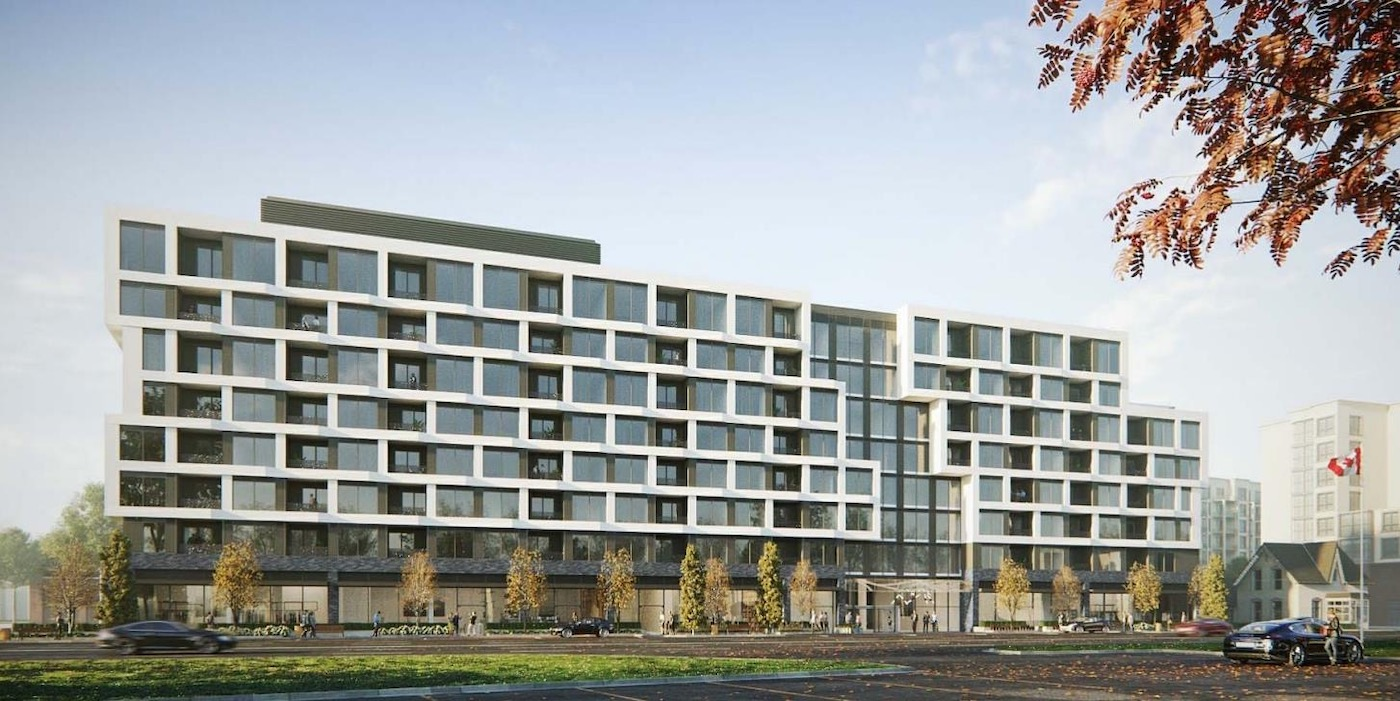 Rendering of The Branch Condos Full Building Exterior