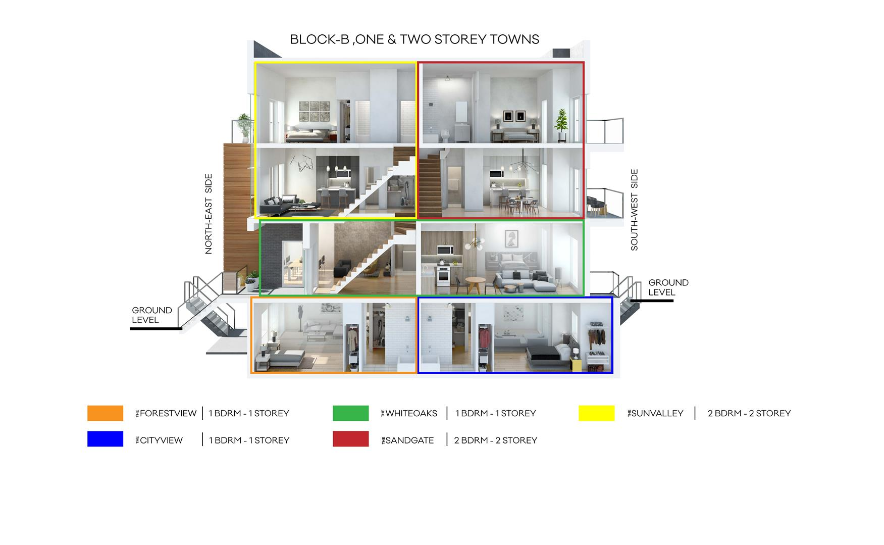 The Clarkson Urban Towns Suite Interior Diagram