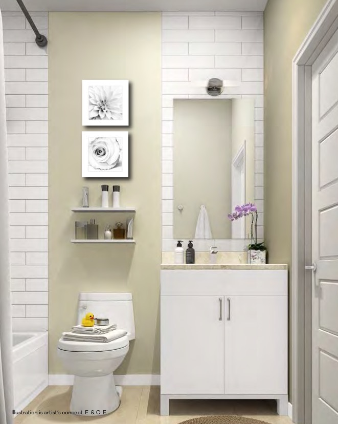 Rendering of 4Hundred East Mall Townhomes Bathroom