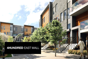 Exterior Rendering of 4Hundred East Mall Townhomes