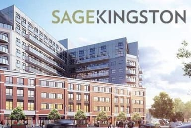Sage Kingston Building Exterior with Logo Overlay