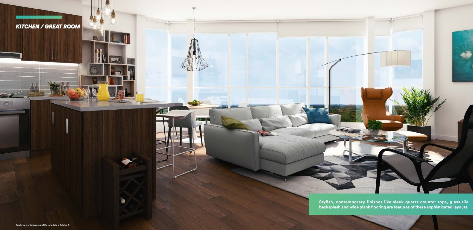 Rendering of Affinity Condos Unit Interior