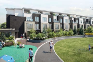 Exterior Rendering of Arc Towns