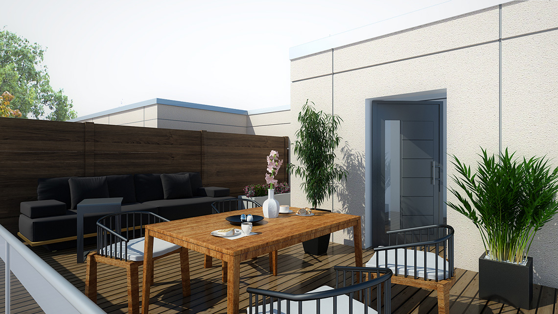 Rendering of Dellwood Park Urban Townhomes Terrace