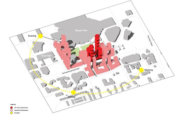 Map Graphic of Exchange District Condos