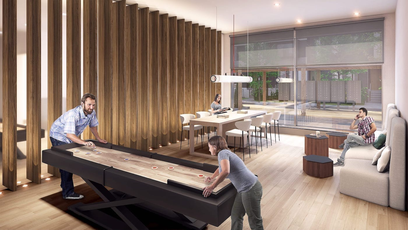 Lounge Rendering of Reunion Crossing Condos