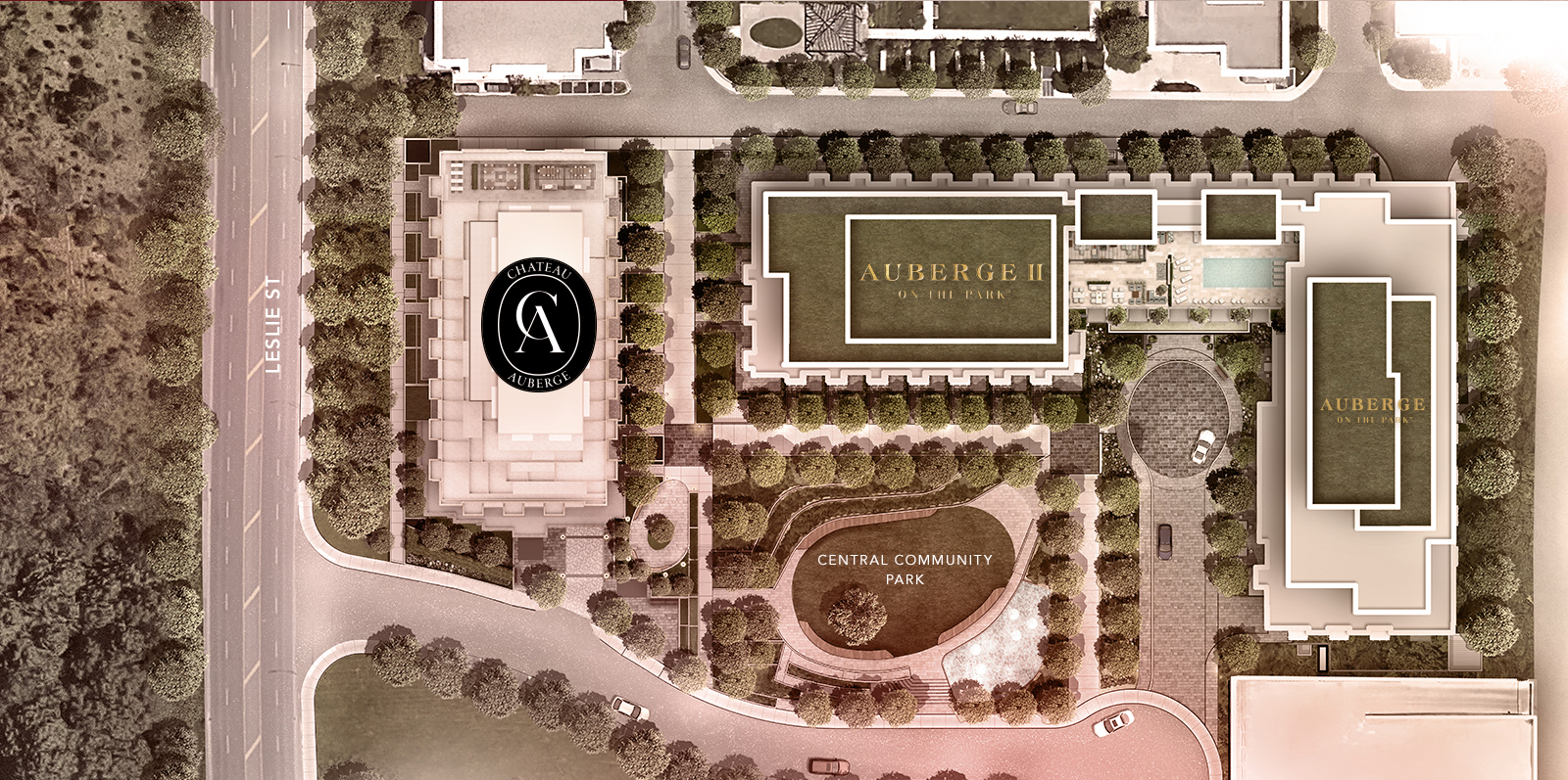 Chateau Auberge on the Park Site Plan