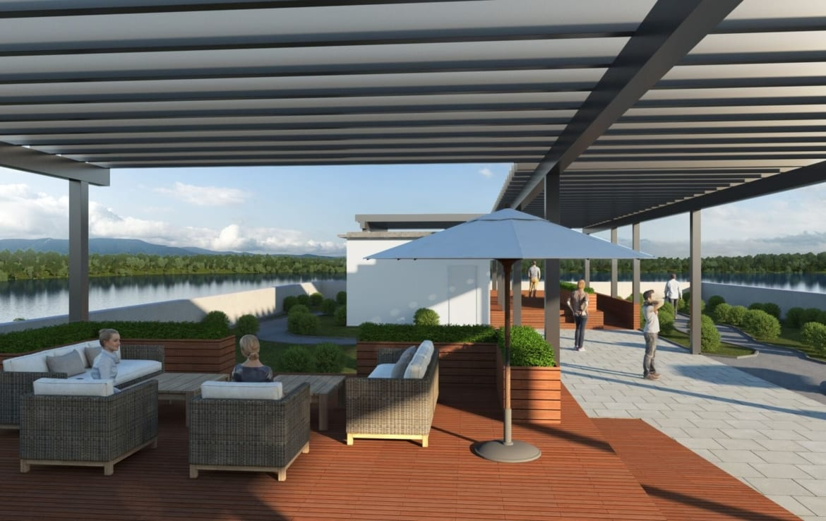Rendering of The Landing at Little Lake Rooftop Terrace