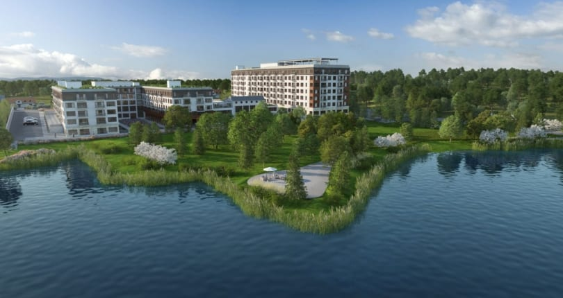 Exterior Rendering of The Landing at Little Lake