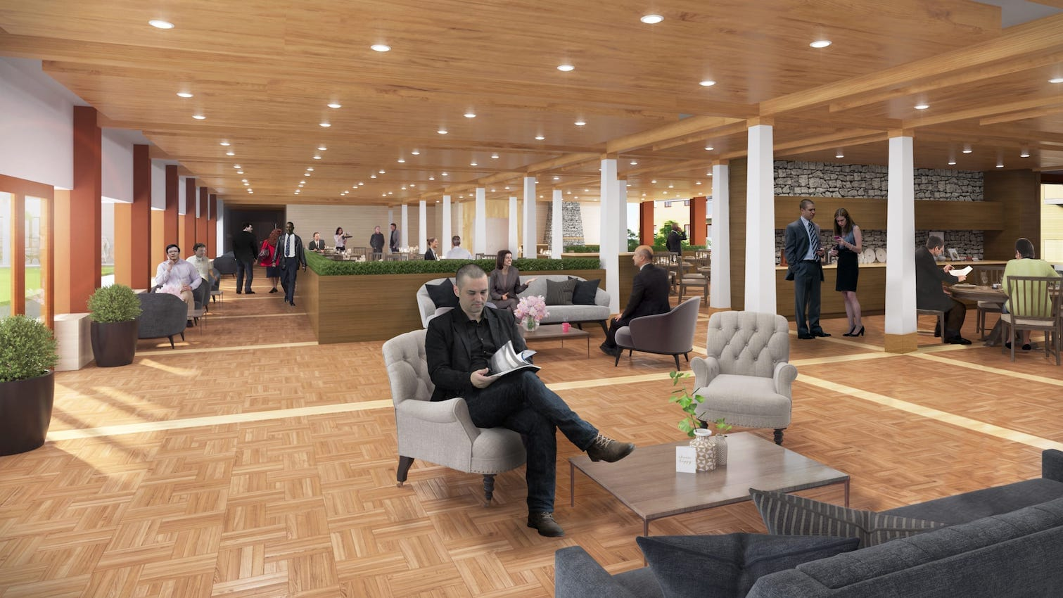 Rendering of The Landing at Little Lake Dining Room