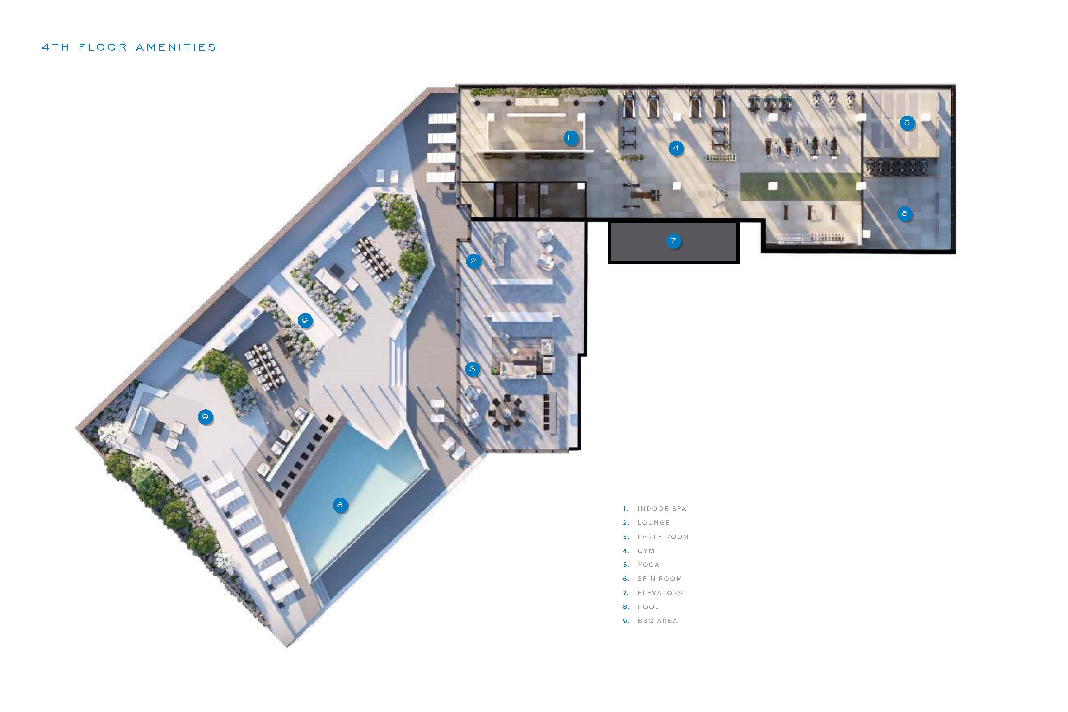 SXSW 2 fourth floor amenity map.